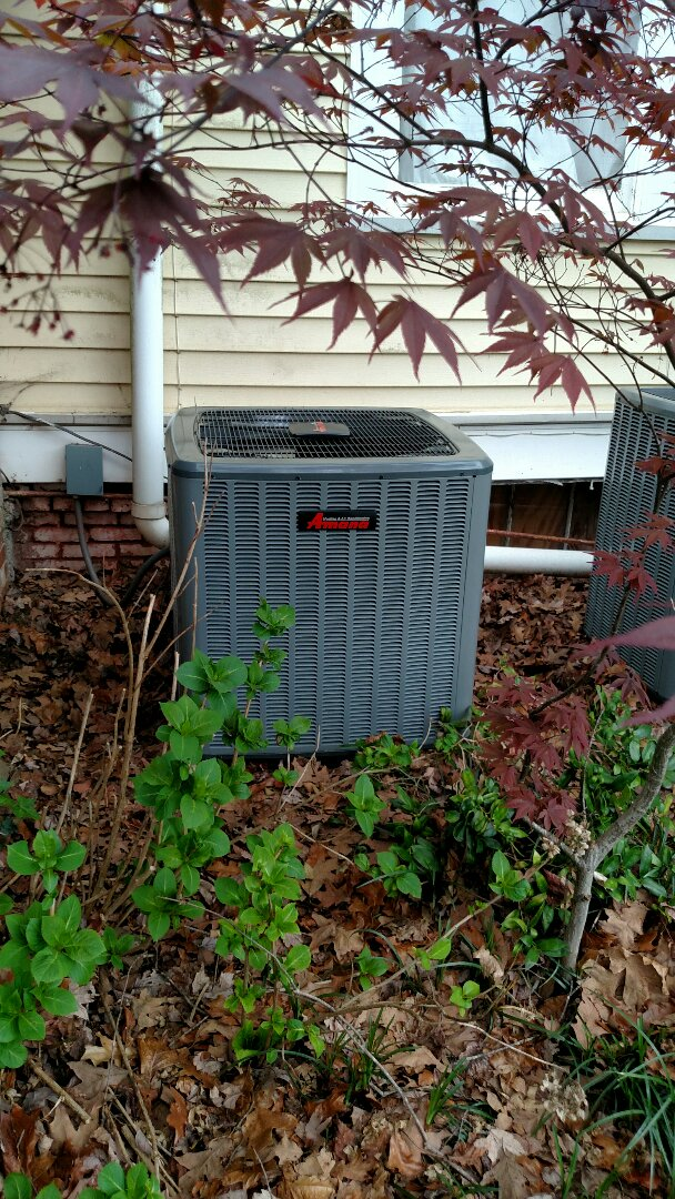 Gainesville, GA - Fine tuning this 14 seer Amana air conditioner with variable speed natural gas furnace that we installed winter of 2016. We are local and in or near this area on a daily basis. We serve you and your family with honesty and integrity. We install new systems service old systems and we are a quality company.