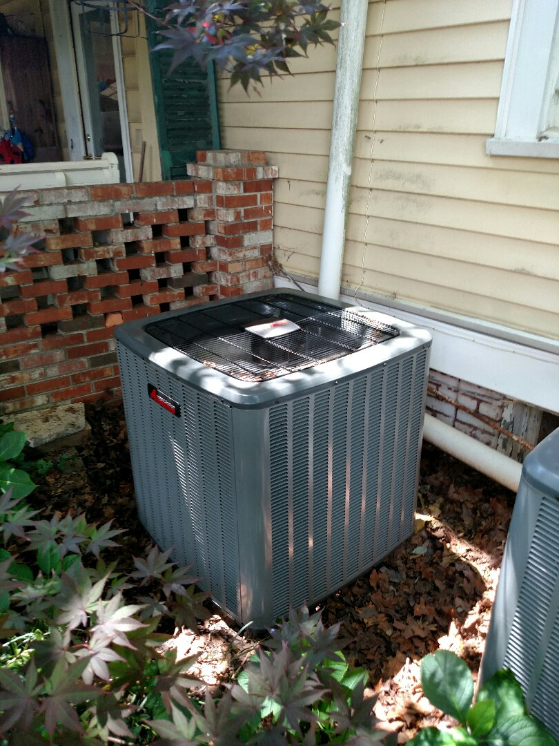 Gainesville, GA - Performing warranty work on this Amana central heating and air conditioning system that we installed. We are local and in or near this area on a daily basis. We serve you and your family with honesty and integrity. We service all brands like Carrier Bryant Lennox Comfortmaker Nordyne Tappan Westinghouse Trane American standard Ruud Rheem Heil Amana Goodman Daikin GMC Whirlpool weather king. You will see the same two technicians Chris and Chad every time.