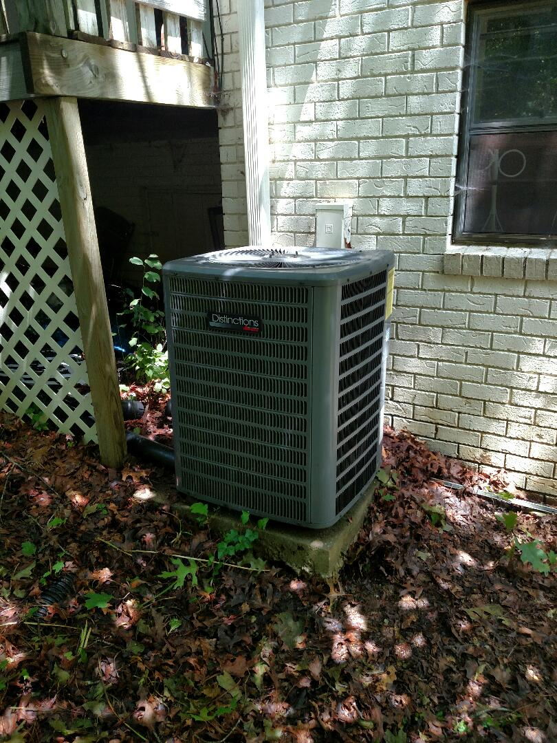 Gainesville, GA - Replacing leaking evaporator coil on this 8 year old 16 seer Amana central heating and air conditioning system that we installed back in 2009 under Amana's 10 year all parts warranty. We are local and in or near this area on a daily basis. We service all brands like Carrier Bryant Lennox Comfortmaker Nordyne Tappan Westinghouse Trane American standard Ruud Rheem Heil Amana Goodman Daikin GMC Whirlpool weather king Tempstar Armstrong Coleman. Check out our great reviews and website.