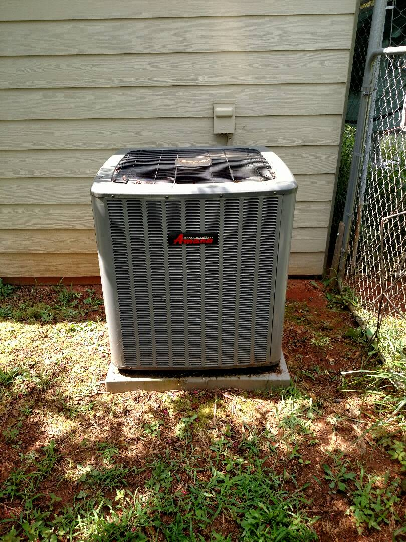 Flowery Branch, GA - Performing cooling check on this 2 year old 18 seer communicating Amana central heating and air conditioning system. We are local and in or near this area on a daily basis. We are here to serve you and your family with honesty and integrity. We serve Hall County and surrounding areas. We service all brands like Carrier Bryant Lennox Comfortmaker Nordyne Tappan Westinghouse Trane American standard Ruud Rheem Heil Amana Goodman Daikin GMC Whirlpool weather king Tempstar Armstrong Coleman.