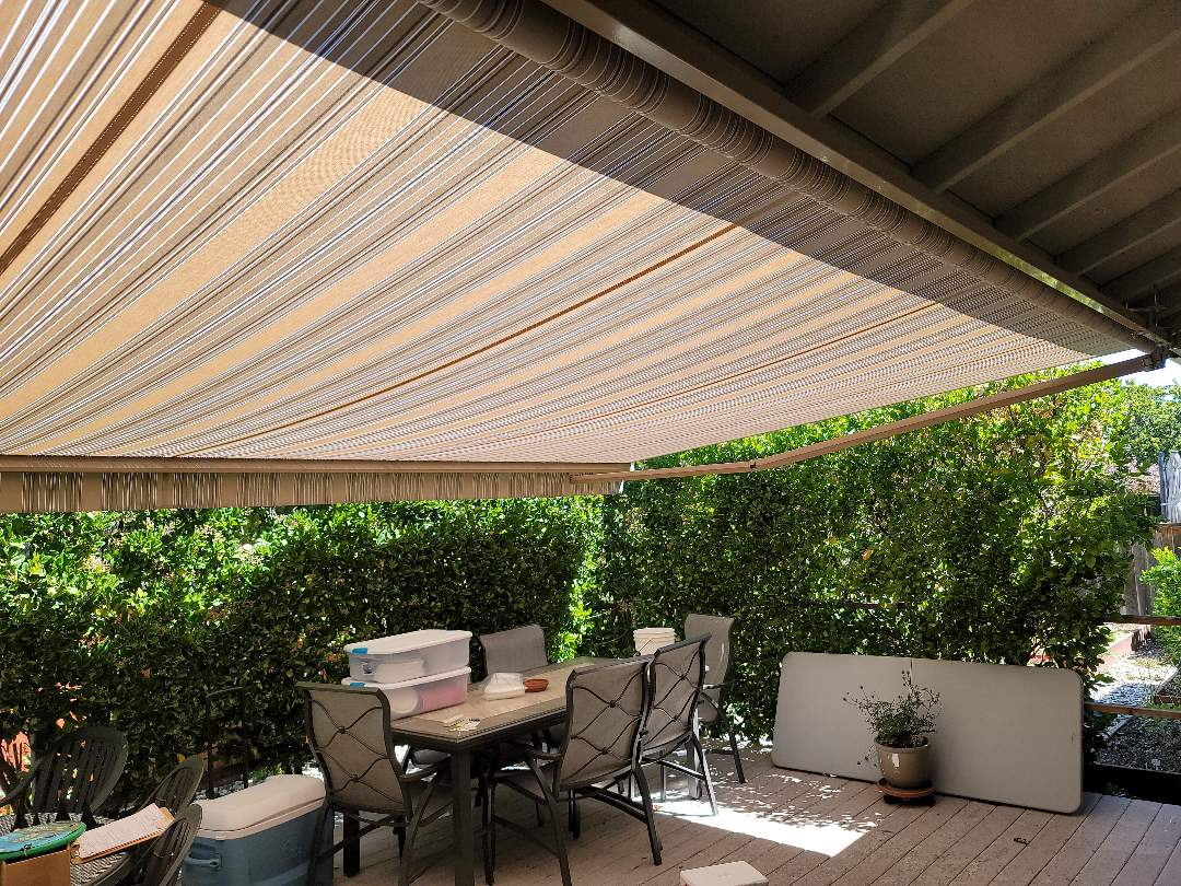 Concord, CA - Install Sunesta Retractable Awning, Sunstyle model.  18' wide x 11.6' projection in Concord California