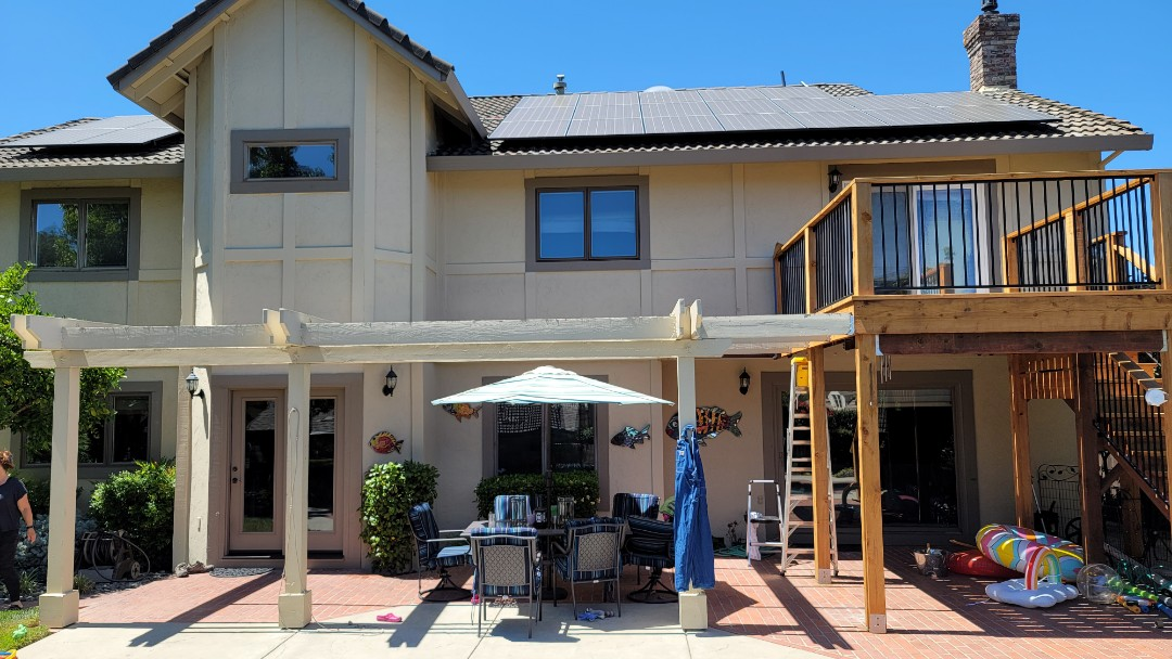 """Vacaville, CA - Sold a Sunesta Retractable Awning 14'11"""" wide x 13' projection that includes a Protective hood and a 5' manual drop screen. This Awning will arrive in 4-5 weeks, before their big event on July 23rd.  The following picture shows the site of their future Awning. By the way the motor is from the leader in Awning motors, Somfy."""