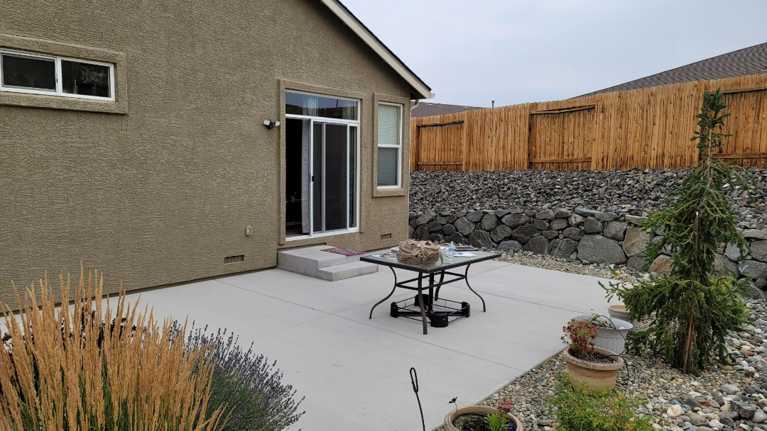 Reno, NV - It is a nice cloudy day today but the customer needs an awning to fill this large area. They chose a Sunesta Retractable Awning,  24' wide x 14.8 projection.  This will provide real nice shade so that they can enjoy their backyard yard all year long.