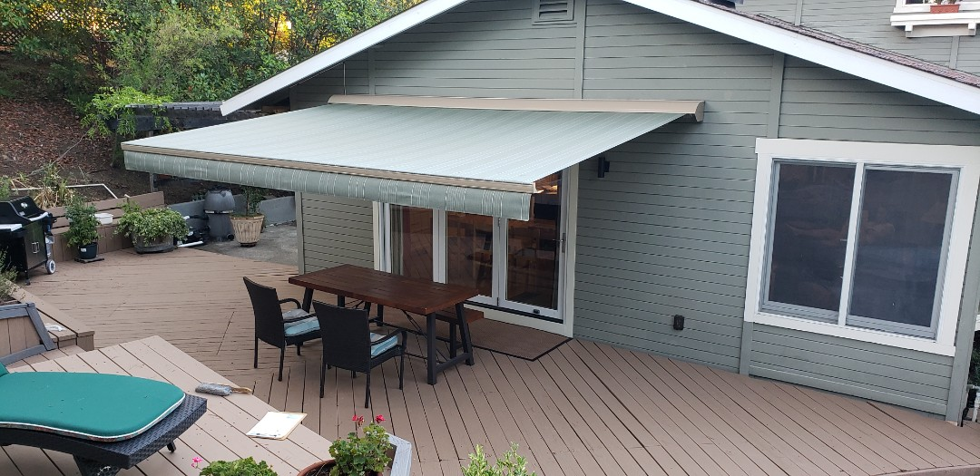 Livermore, CA - Installed Sunesta Retractable awning.
