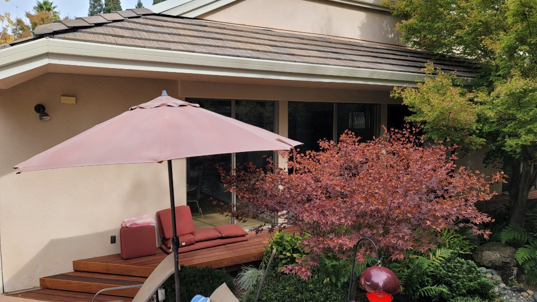 Danville, CA - Here is an unique situation,  where the customer needs to protect their Japanese maple tree from burning up in the sun. A Sunesta Retractable Awning  will do the job very well.