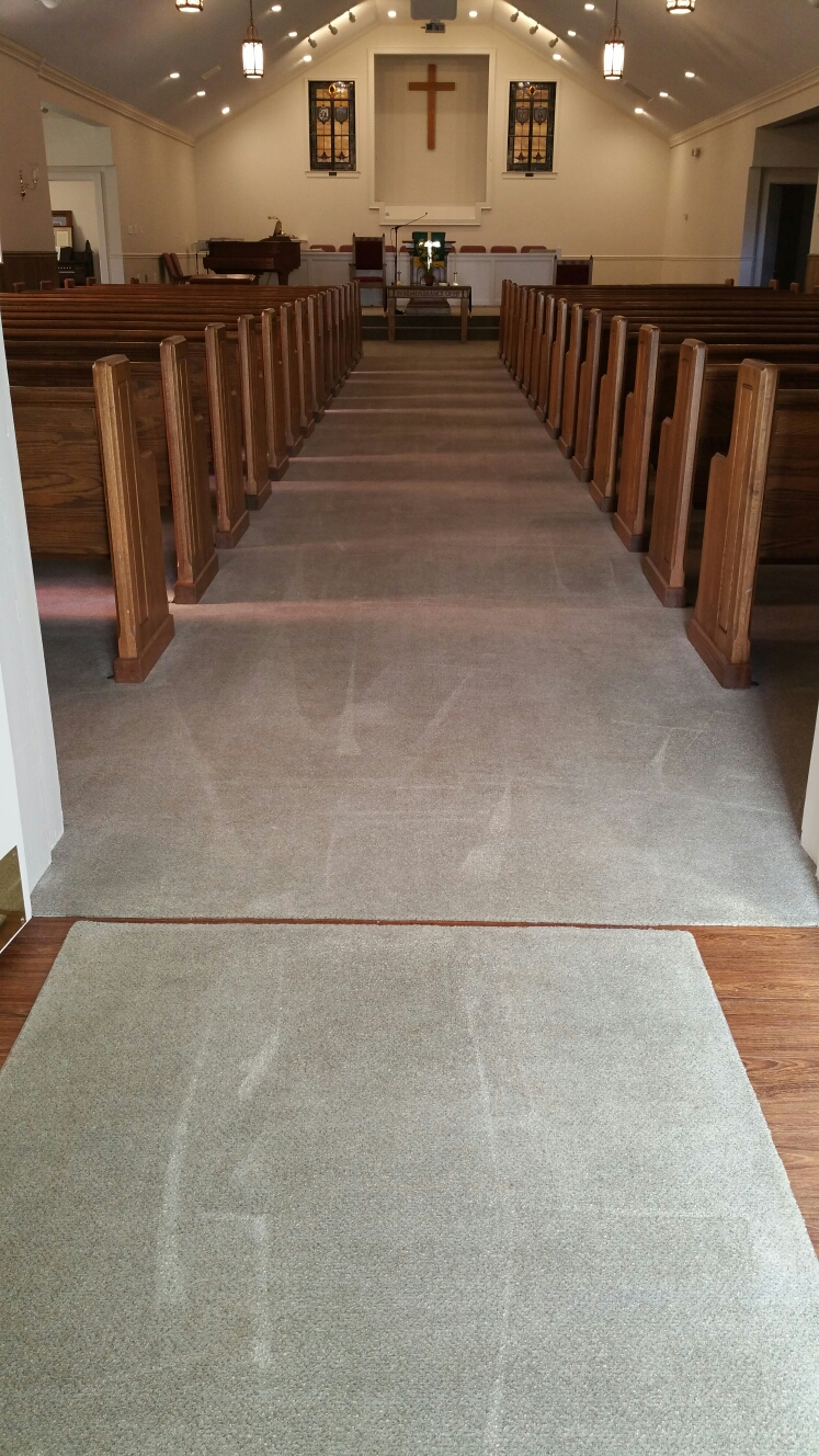 Church carpet cleaning in Hillsborough NC.