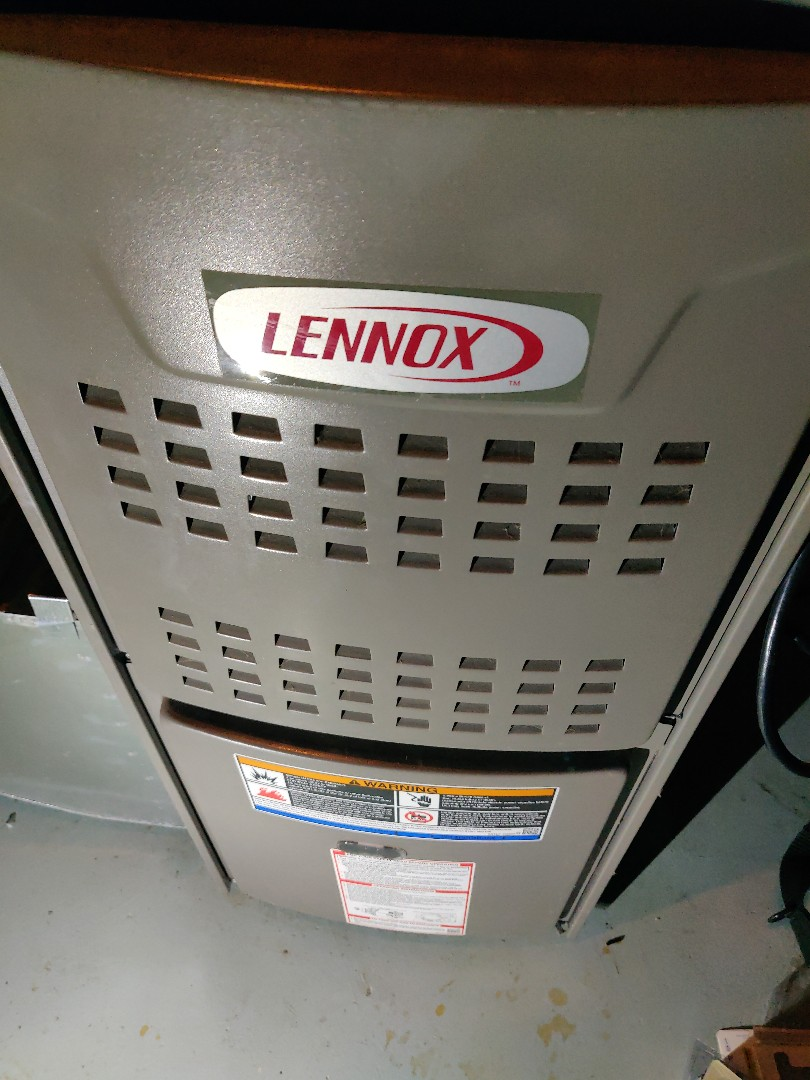 Springfield, MI - After hours no heat service call Lennox  replacement of 120v switch plug. Serviced furnace clean flame sensor.