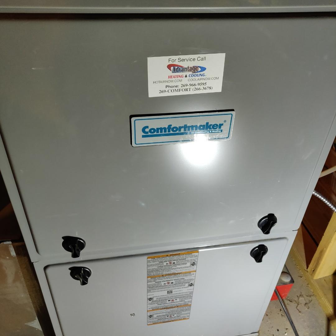 Battle Creek, MI - After hours no heat call. Comfortmaker gas furnace.