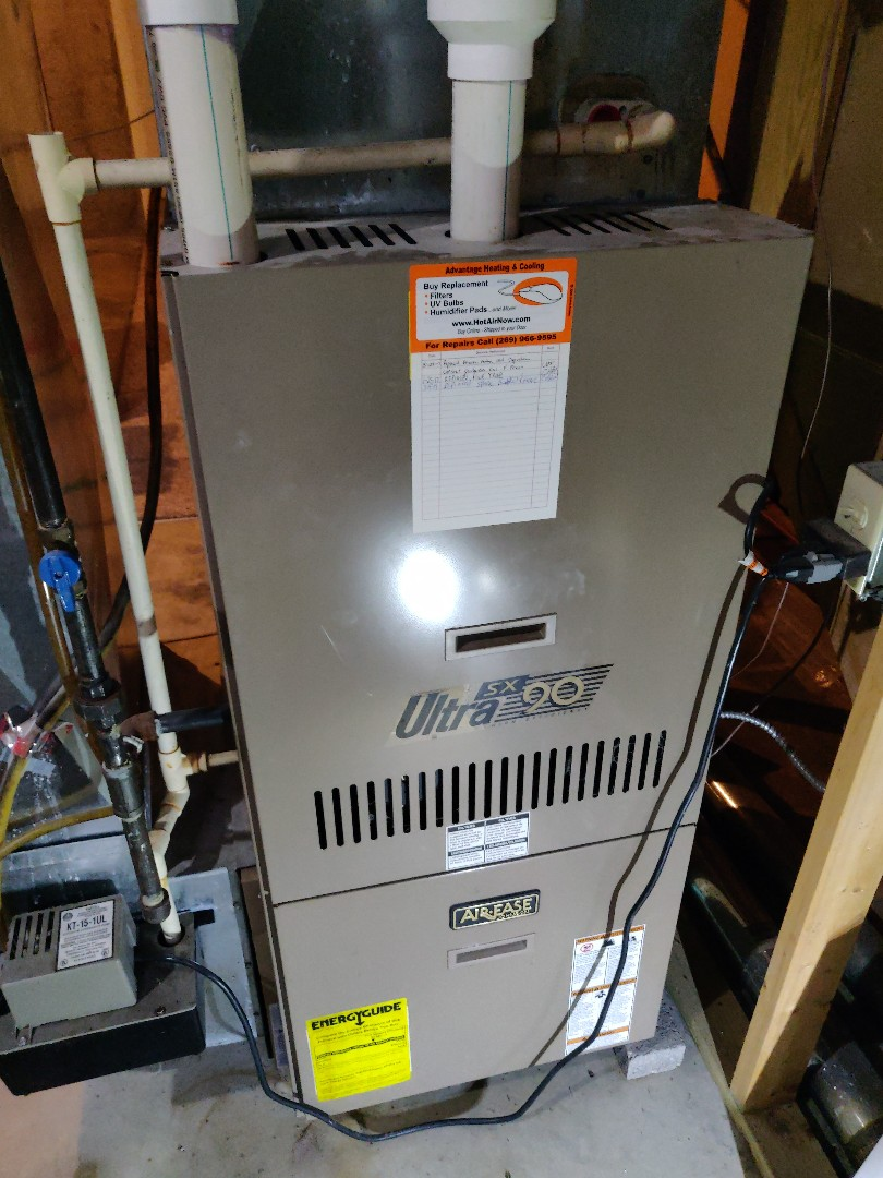 Battle Creek, MI - Ho heat service repair replace spark control board. Armstrong sx Ultra 90 gas furnace.