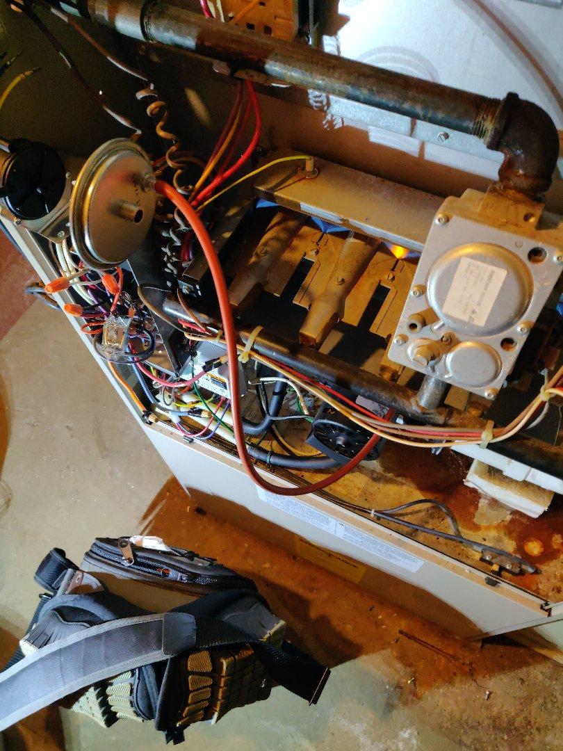 Battle Creek, MI - No heat repair service call. Control board replace. Amana gas furnace.