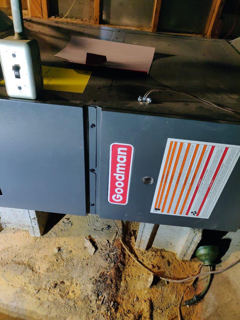 Battle Creek, MI - No heat repair clean flame sensor. Good man furnace.