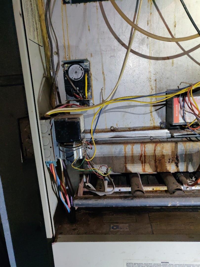 Battle Creek, MI - NO HEAT repair Bard gas furnace. Lose wire fix