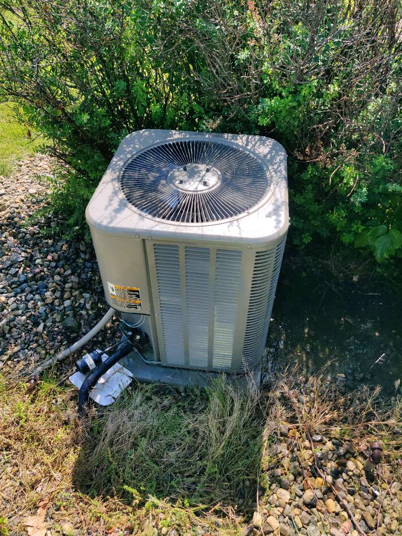 Battle Creek, MI - Added r410a Freon and cleaned condenser coil on a Lennox.