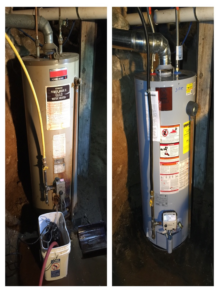 Marshall, MI - Replaced very old Kenmore Water Heater with a State Select Water Heater 40 Gallon Short Natural Gas.