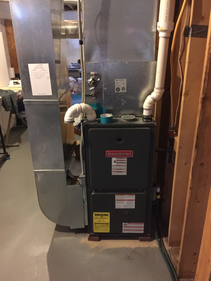 Augusta, MI - No heat repair on a Goodman GMH95, performed a performance tune up and draft Inducer motor was needed.