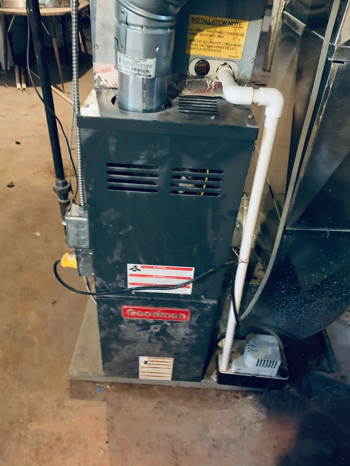 Battle Creek, MI - After hours no heat repair, Goodman gas furnace. Hot surface Ignitor replacement was performed.