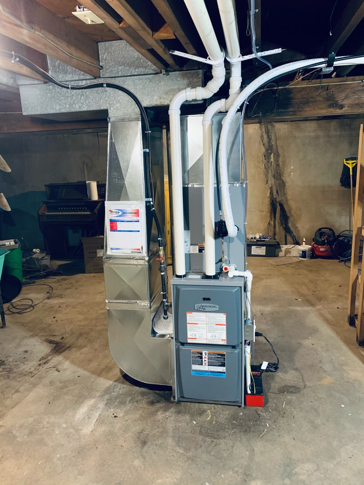 Battle Creek, MI - Replacement of an old Oil furnace with a New Armstrong Gas Furnace.