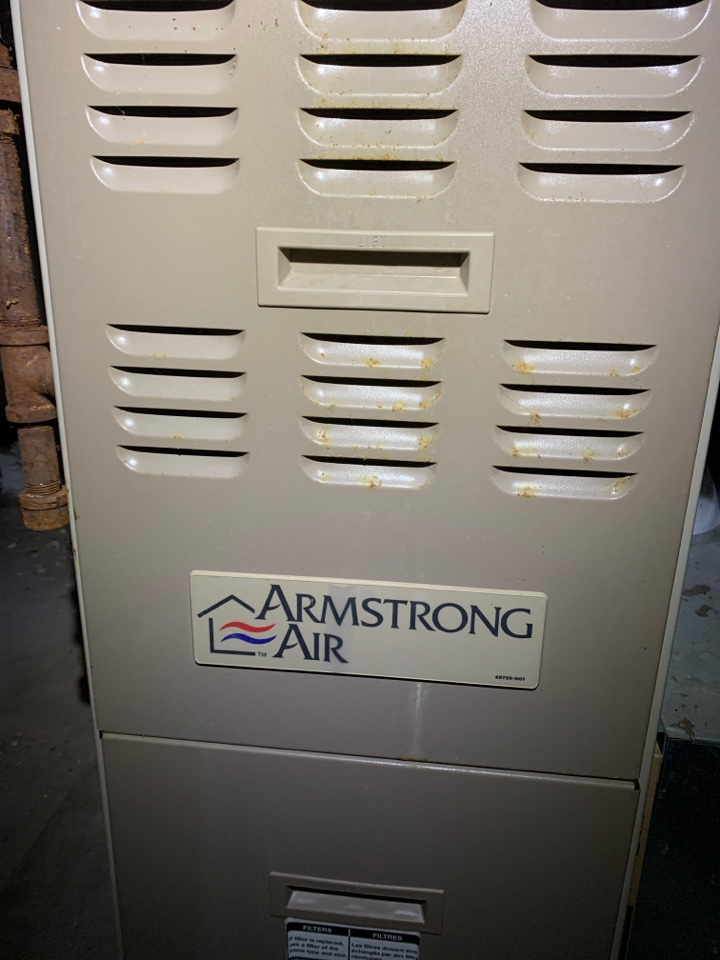 No Heat repair on a Armstrong Air gas furnace.