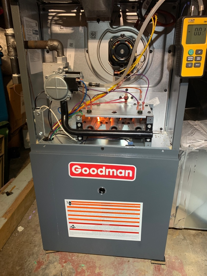 Replacement of a 60 year old furnace with a Goodman.