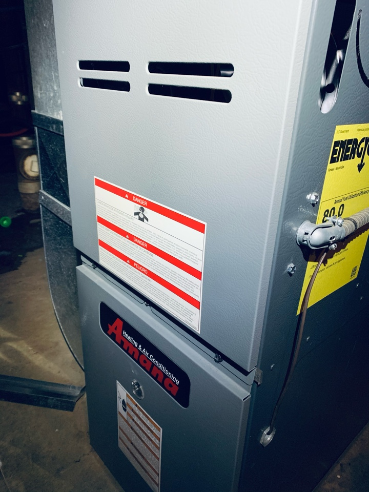 No heat repair on Amana gas furnace. Control board replacement.