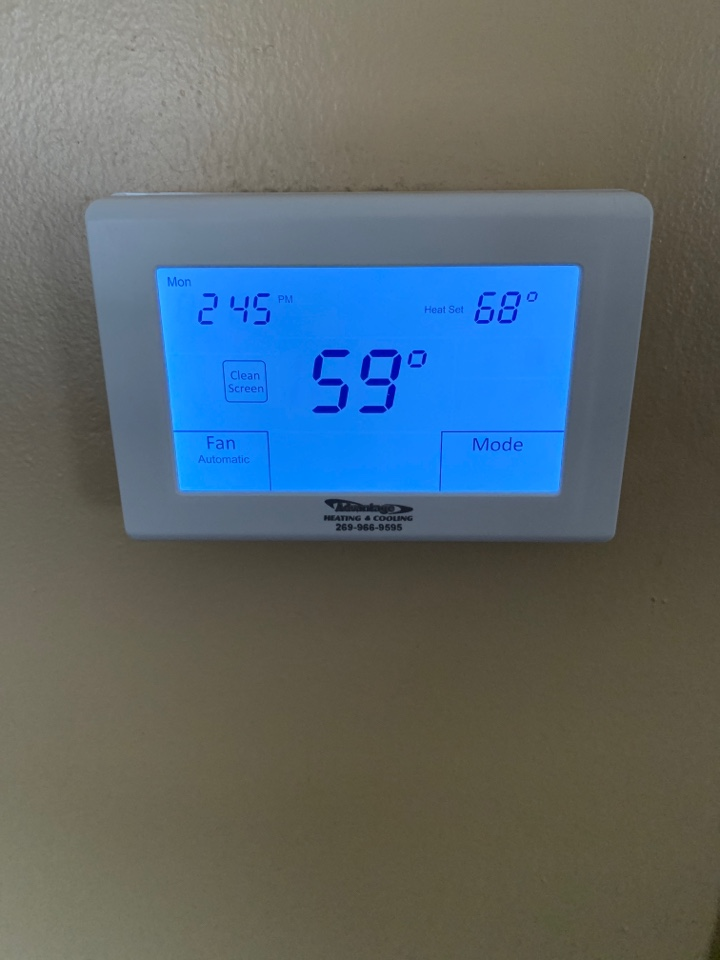 Battle Creek, MI - No heat repair, replacement of the thermostat.