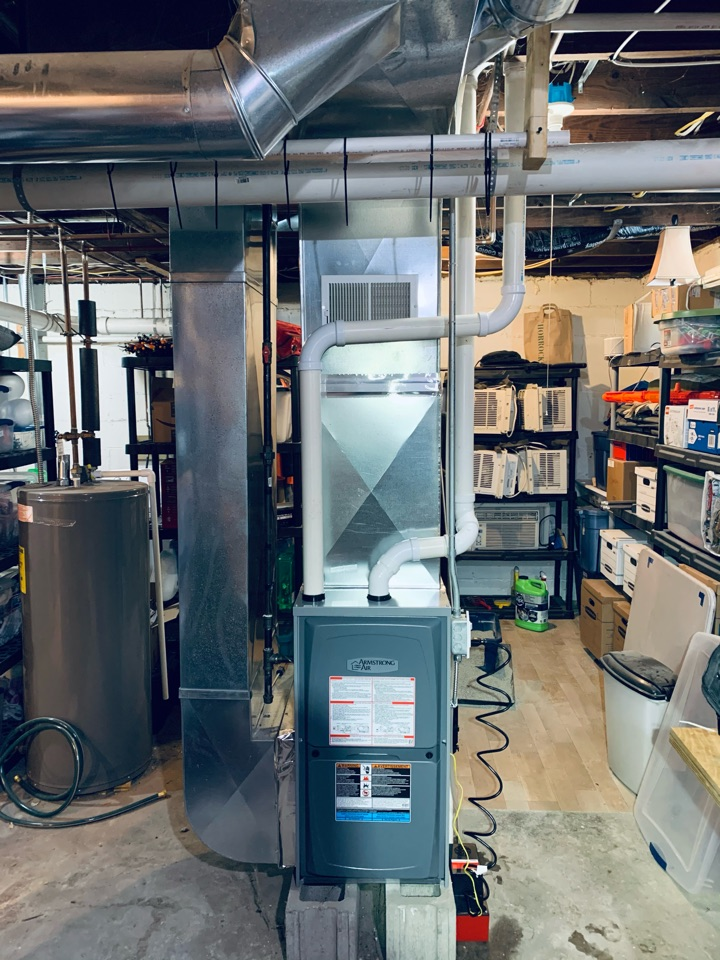 Battle Creek, MI - Armstrong Aire gas furnace installation.