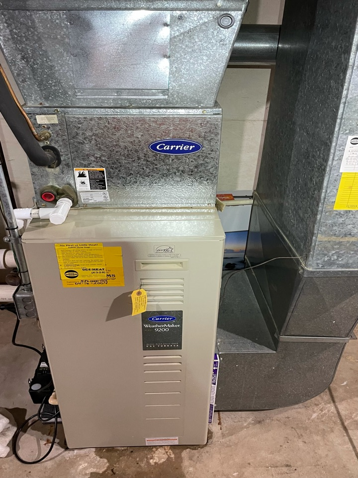 Furnace tune up on a Carrier weather maker 9200