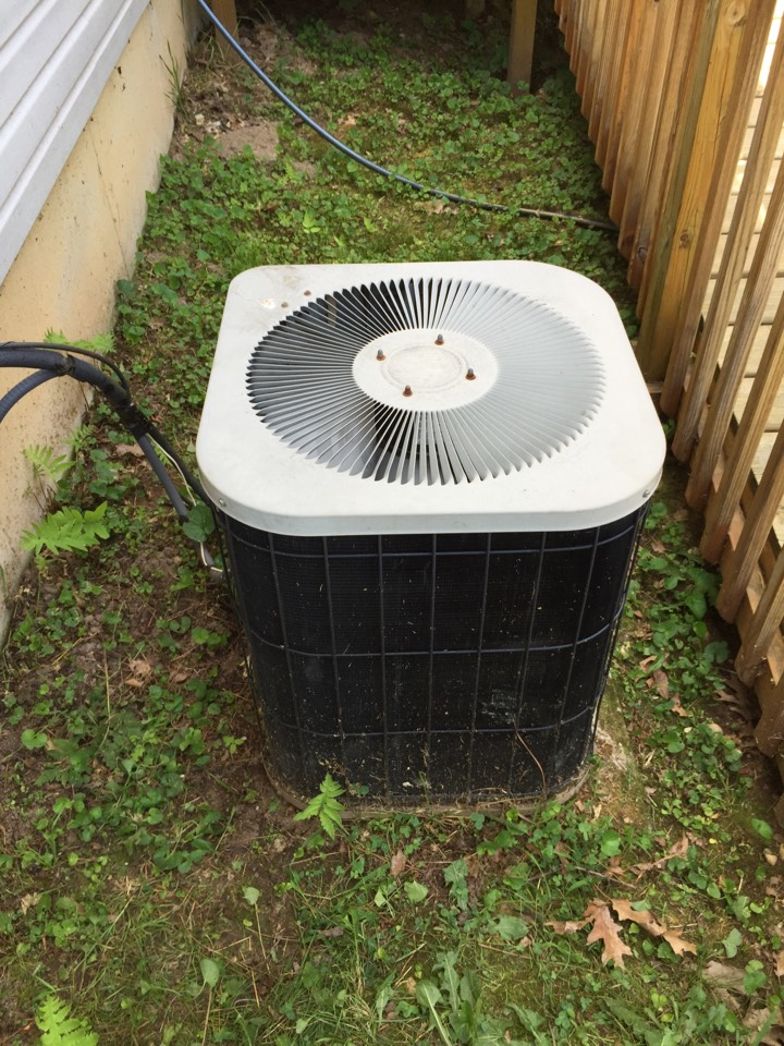 Dowling, MI - Replacement of a capacitor on this Goodman AC Unit was needed.