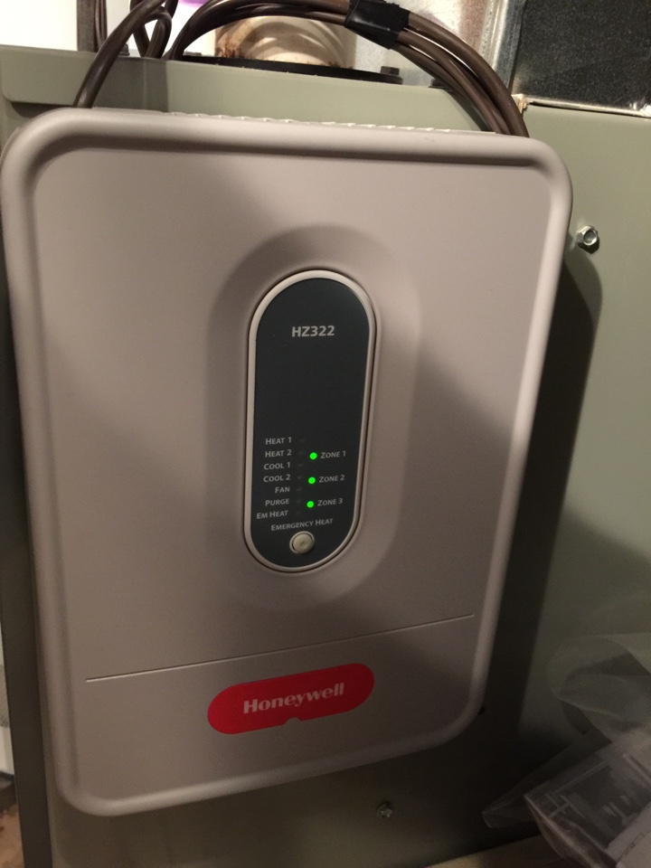 Augusta, MI - Installed a Honeywell Zone System to a Trane Furnace.