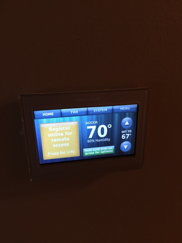 Ceresco, MI - Installed Customers Honeywell with thermostat.