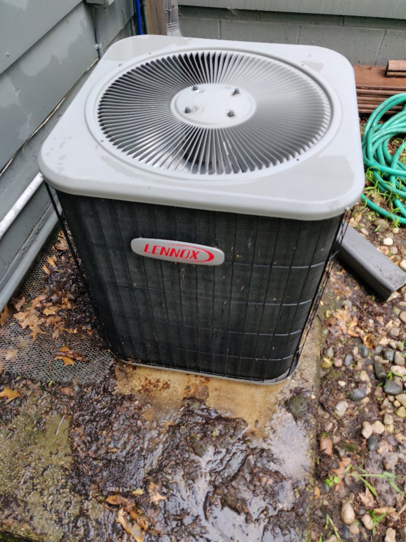 Battle Creek, MI - Replacement of dual run capacitor and Fuse. Cleaned of condenser lennox 10ACC-042
