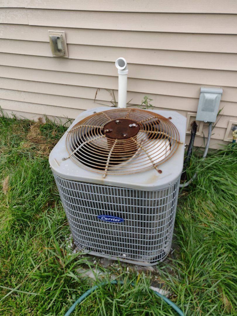 Battle Creek, MI - Added 410a freon and cleaned condenser coil.