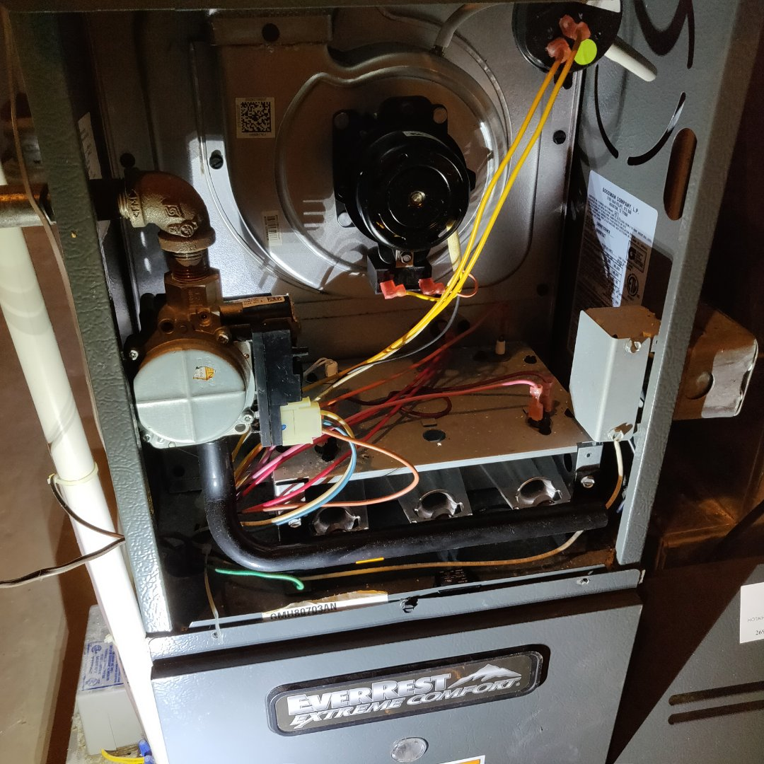 Battle Creek, MI - Replace blower motor,capacitor and control board on a Goodman or Ever rest gas furnace.