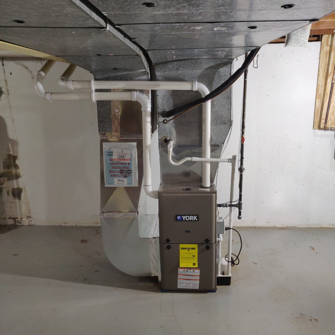 Battle Creek, MI - Replace old furnace with a york Tm9v080 96% 2-stage.