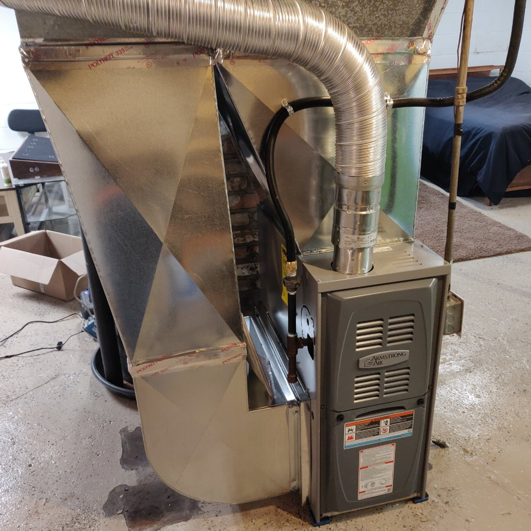 Battle Creek, MI - Replace old Moncrief furnace with a Armstrong Air 80% gas furnace.