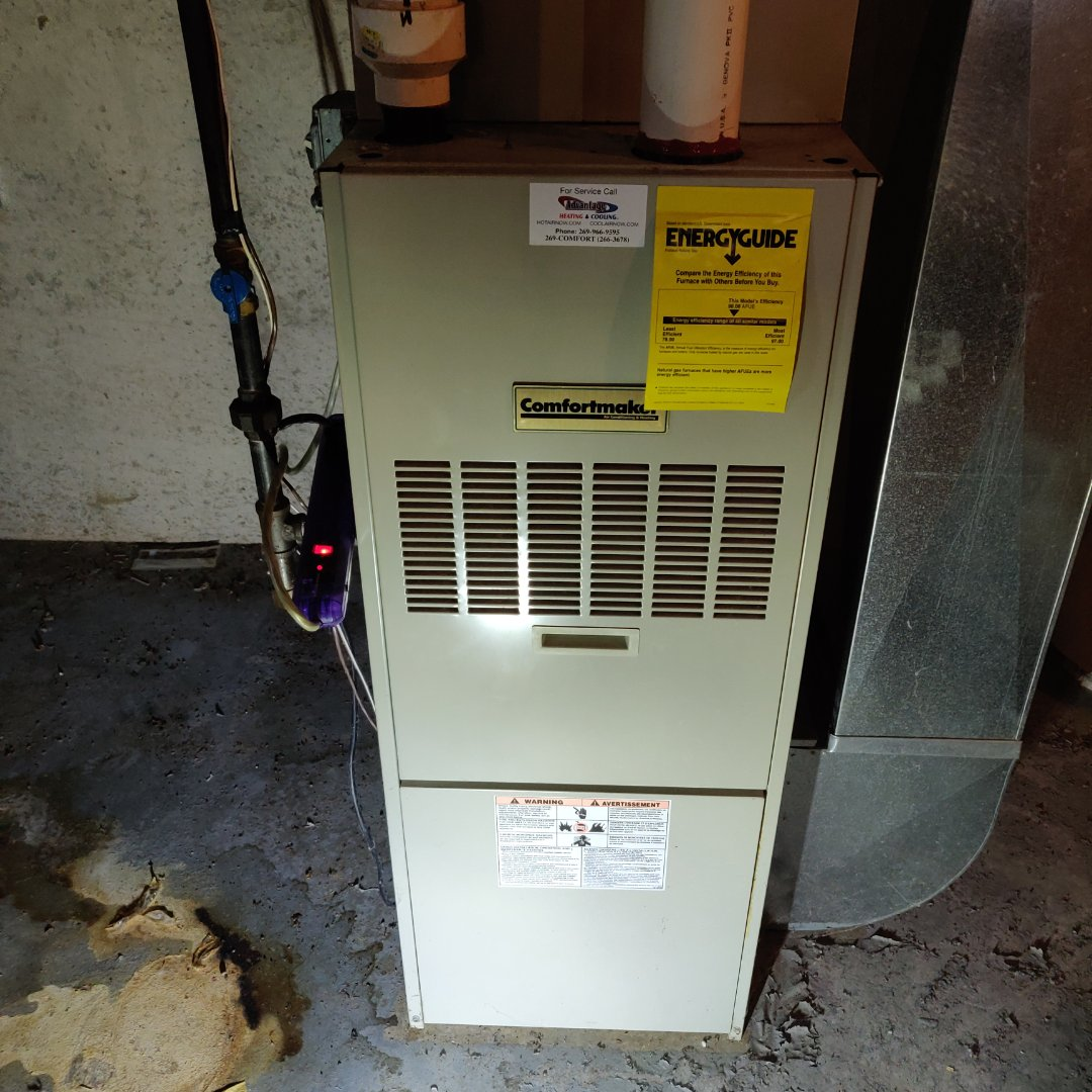 Battle Creek, MI - No heat service call. Replaced draft inducer motor on comfort maker