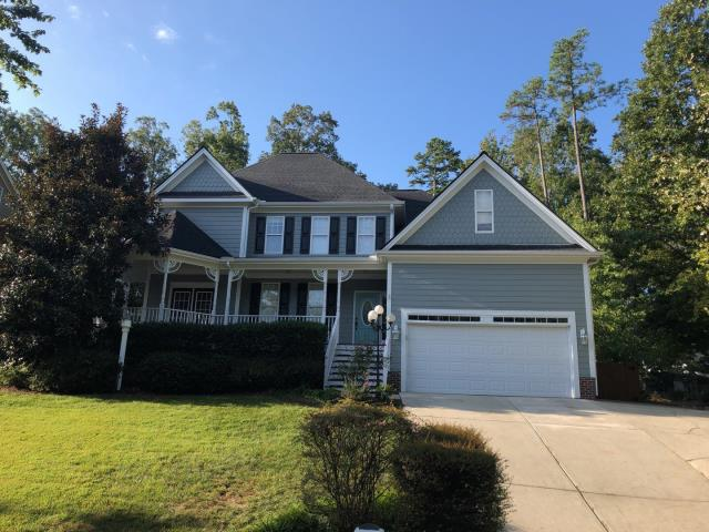 Holly Springs, NC - What a BEAUTIFUL home! We replaced this roof in September 2019 with GAF Timberline HD Architectural Shingles Charcoal. This roof was APPROVED through insurance for a storm damage claim.