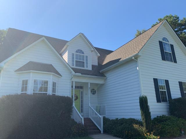 Clayton, NC - We replaced this roof in September 2019 with GAF Timberline HD Architectural Shingles in Slate. Looks amazing!