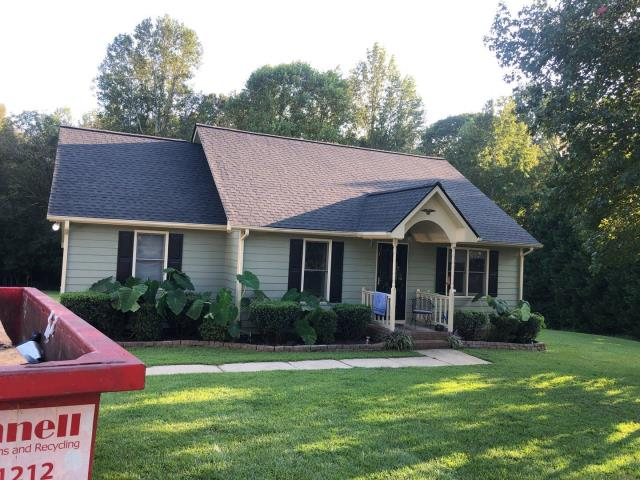 Benson, NC - The homeowners contacted us regarding storm damage and we got this roof APPROVED through insurance for a claim. We replaced the roof with GAF Timberline HD Architectural Shingles in Charcoal in September 2019.