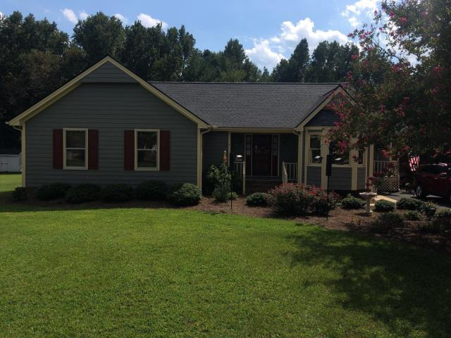 Clayton, NC - We replaced this roof with GAF Timberline HD Architectural Shingles in Pewter Gray in August 2019. This roof was APPROVED by insurance for a storm damage claim. Thank you for choosing Scro's!