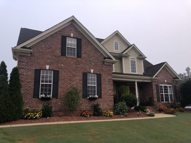 Clayton, NC - We replaced this roof in September 2019 with GAF Timberline HD Architectural Shingles in Charcoal.