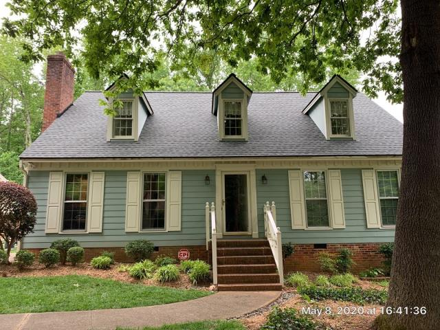 Raleigh, NC - In May 2020, we replaced this roof with GAF Timberline HDZ Architectural Shingles in Slate. Looks fantastic on this home!