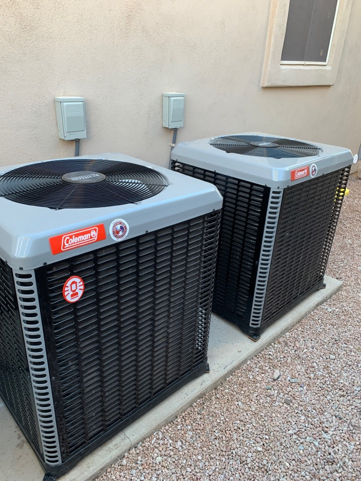 Scottsdale, AZ - Another happy client that can't wait for summer with their new Coleman Echelon Variable speed systems installed.