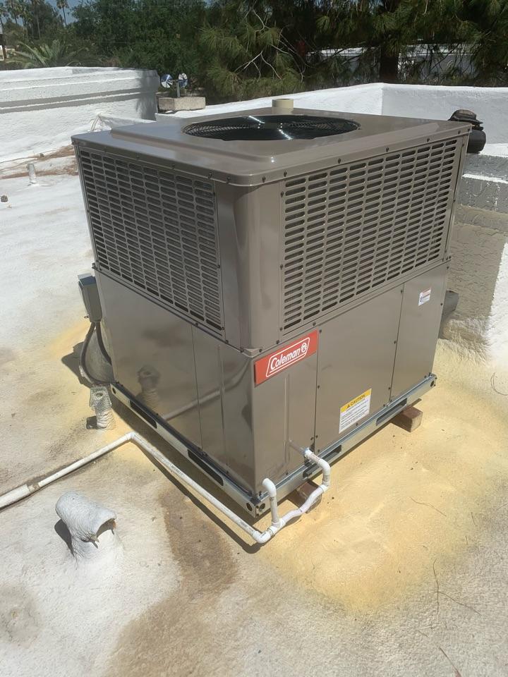Phoenix, AZ - Installed new Coleman 4 ton package heat pump.