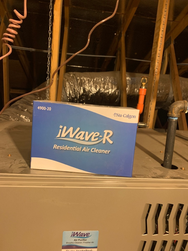 Litchfield Park, AZ - Improving indoor air quality in home with        I-wave air cleaner installed in heating and cooling system.