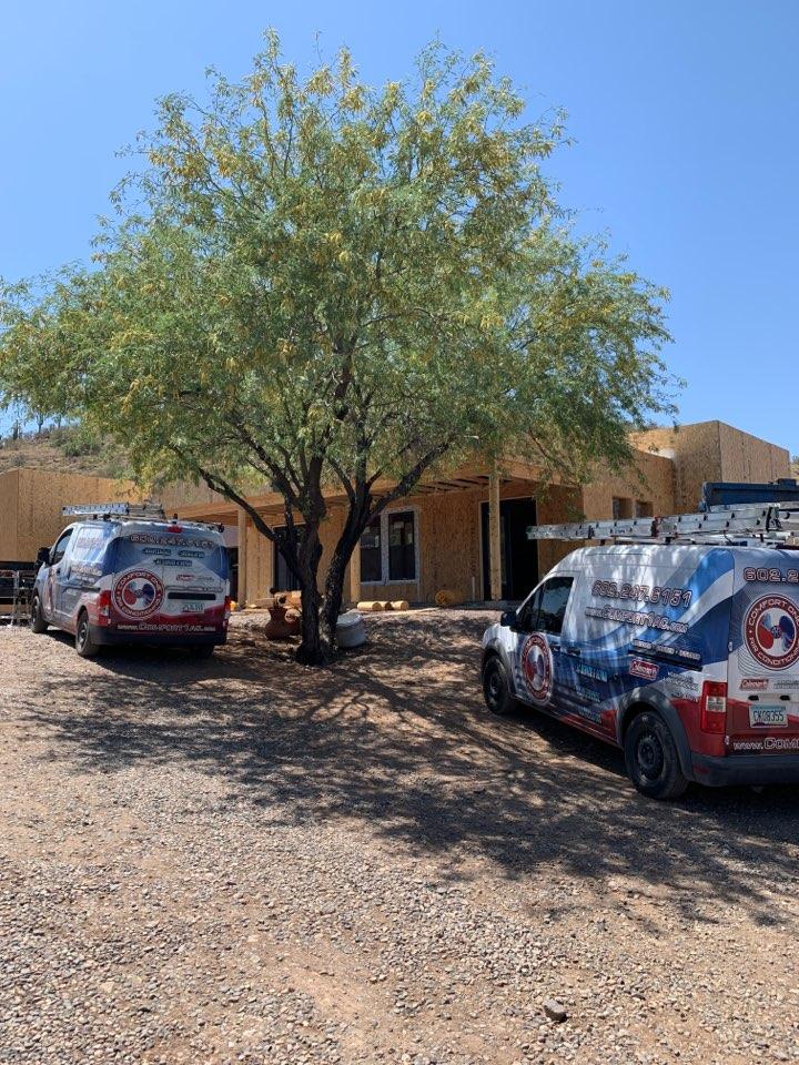 Phoenix, AZ - Running new duct work for new bedroom suite on home in Desert Hills today