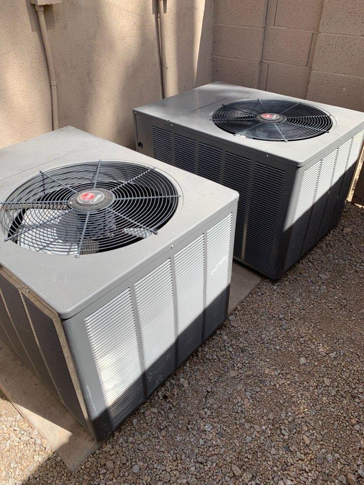 Scottsdale, AZ - Performing pre summer tune up on 2  split heat pump systems