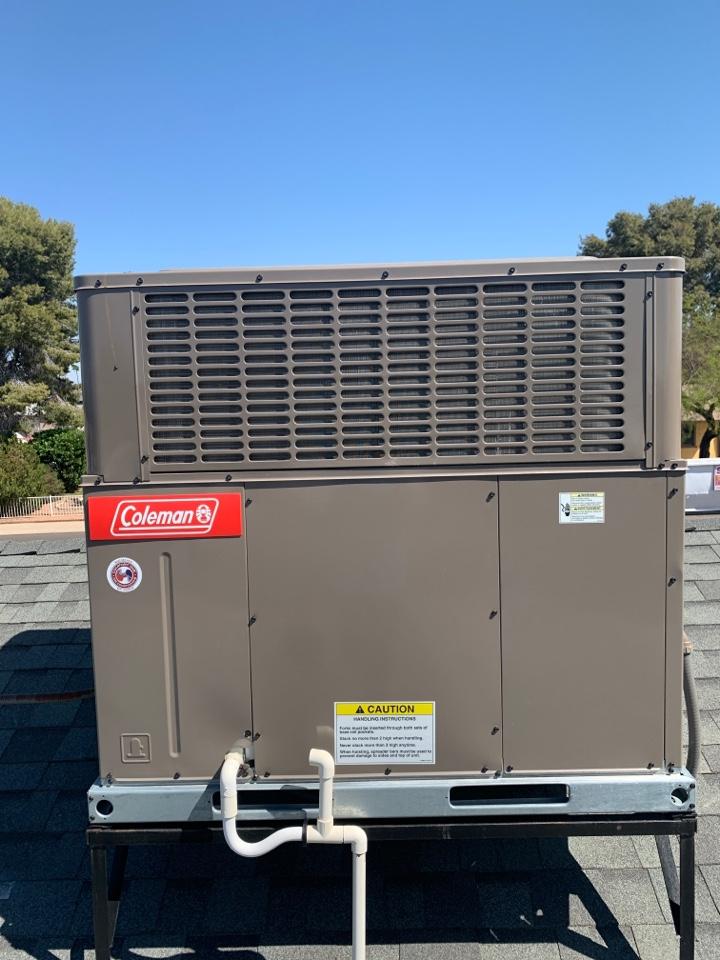 Phoenix, AZ - Pre-Summer check up on Coleman 16 seer 2 stage package heat pump!!