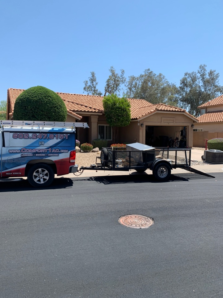 Scottsdale, AZ - In the process of installing new Coleman 2 stage split heat pump today