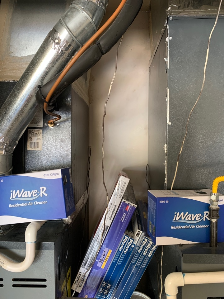 Scottsdale, AZ - Installing 2 I wave air cleaners in McDowell Mountain home this afternoon.